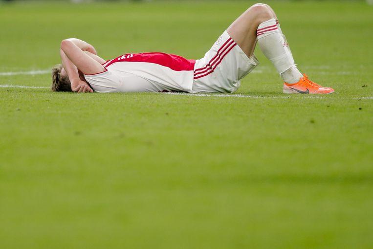 Frenkie de Jong na Ajax - Tottenham Hotspur (2-3).  Beeld BSR Agency