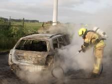 Vermoedelijk gestolen auto brandt uit in Sint-Annaland