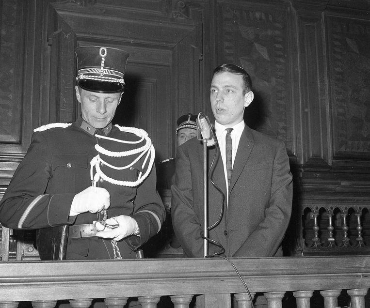 Michel Bellen in de rechtszaal tijdens zijn proces.