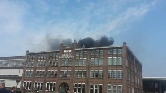Brand bij de Gazellefabriek in Dieren.