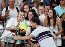 Grigor Dimitrov met fans.