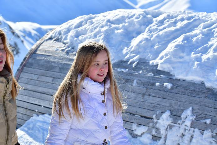 Prinses Ariane tijdens de jaarlijkse fotosessie in Lech.
