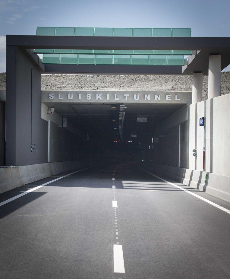 De ingang van de Sluiskiltunnel