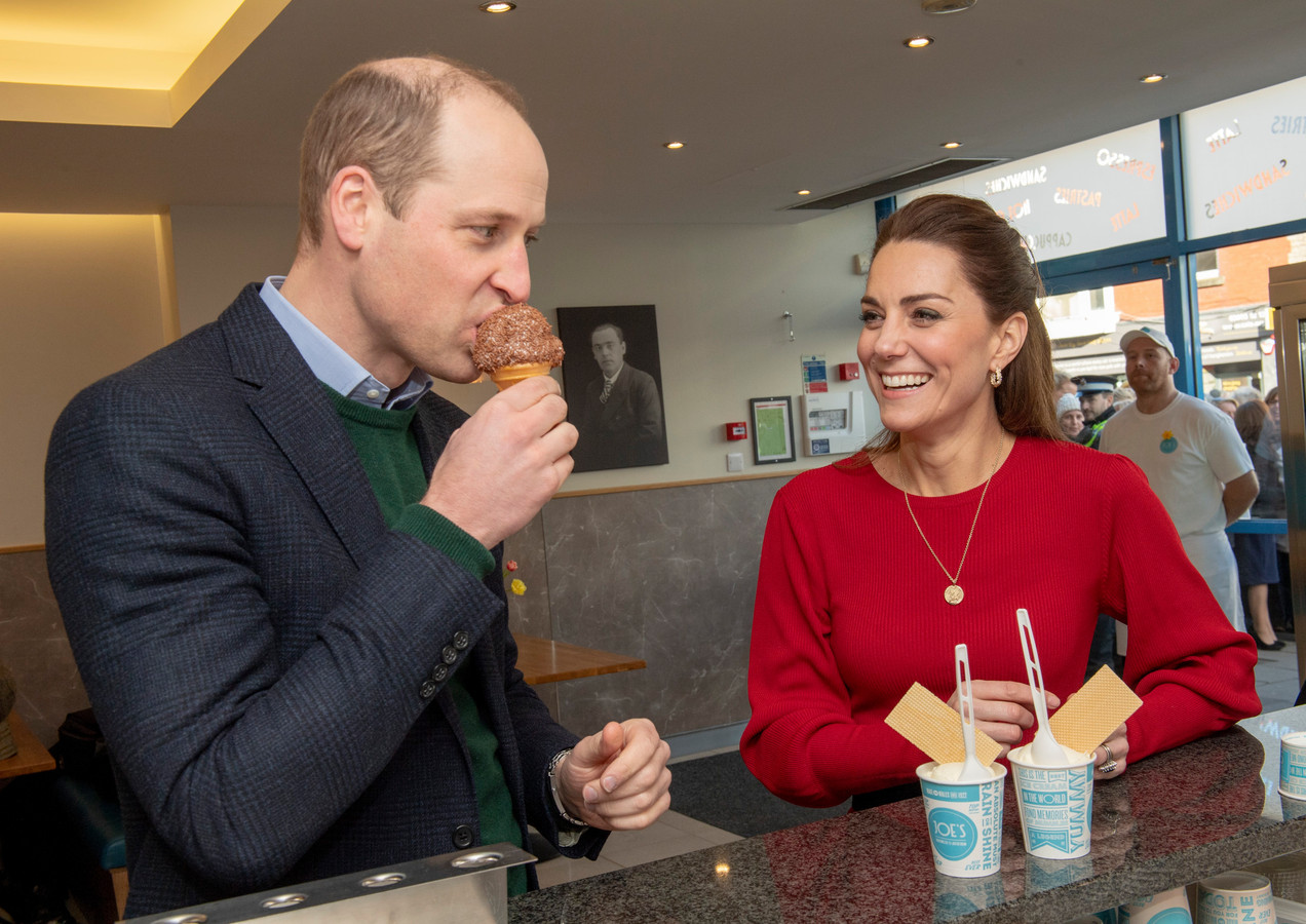 Kate et William ont été invité chez un glacier, au Pays de Galles, le 4 février 2020.