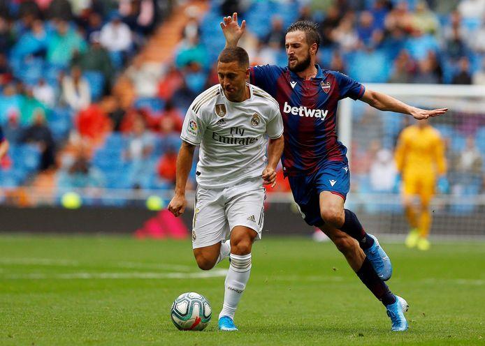 Les fans madrilènes ont enfin pu voir Eden Hazard à l'oeuvre, samedi, contre Levante, et ils espèrent le voir encore plus longtemps sur la pelouse ce soir.