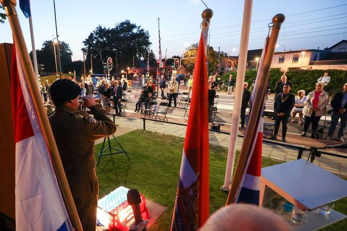 Coronaproof herdenking van de bevrijding in Mierlo-Hout.