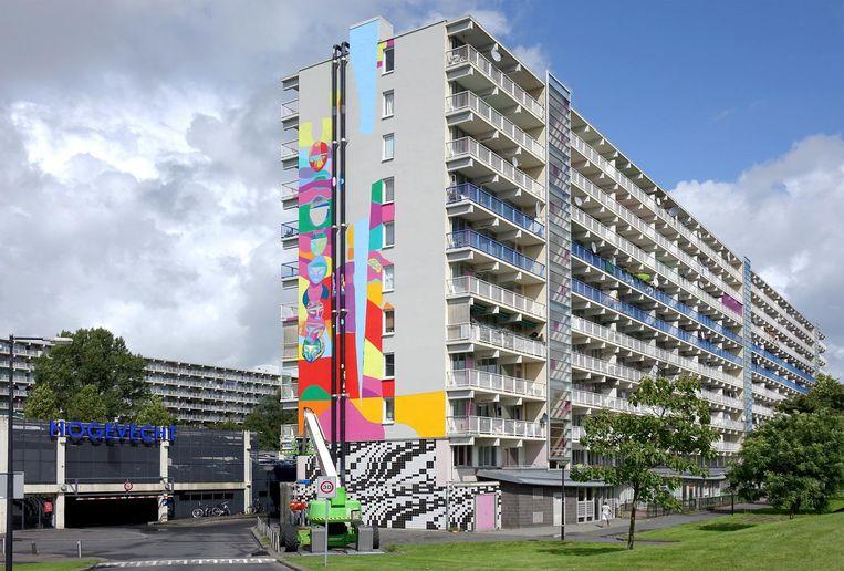 De flat Hogevecht Beeld Reinder van Zaanen