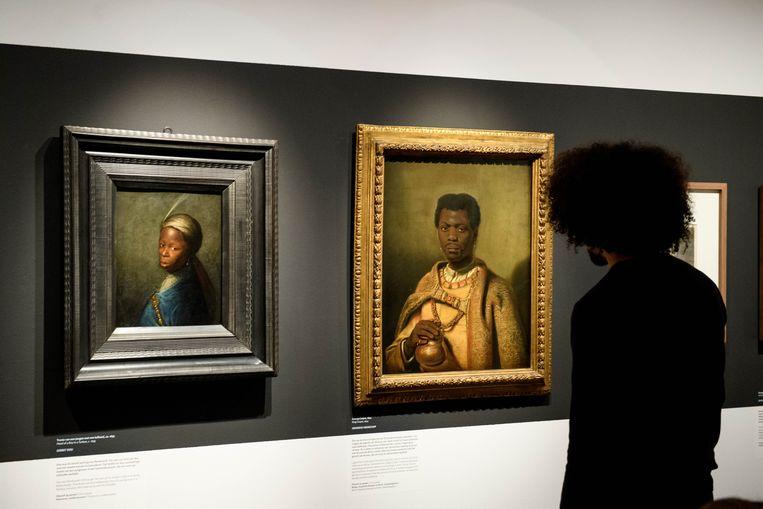 De tentoonstelling 'Hier. Zwart in Rembrandtse tijd' bestaat uit een scala aan portretten verzameld vanuit heel Europa. Beeld Mike Bink