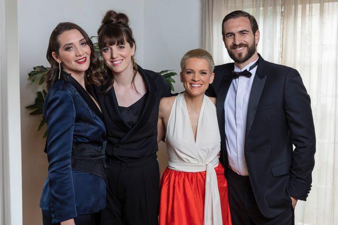Delphine Gerard, Veerle Baetens, Selma Alaoui en Guillame Duhese kregen geen Oscar voor 'Une Soeur'.