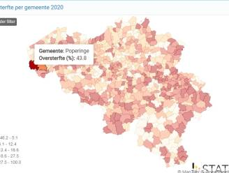 Oversterfte in Brugge in 2020 onder Belgisch gemiddelde, Oostkamp fors erboven