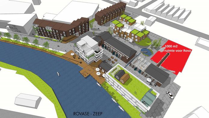 De Rova vreest vanwege de door de projektontwikkelaar geplande woningbouw beperkt te worden bij haar plannen op het voormalige fabrieksterrein.