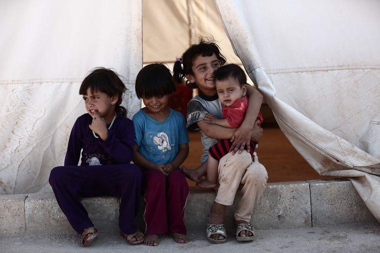 Archiefbeeld ter illustratie (kinderen in een vluchtelingenkamp in Syrië).