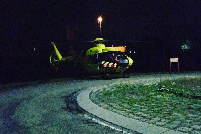 De scooterrijder raakte zwaargewond bij een ongeval.