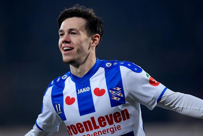 Ossenaar Mitchell van Bergen scoorde tegen PSV.