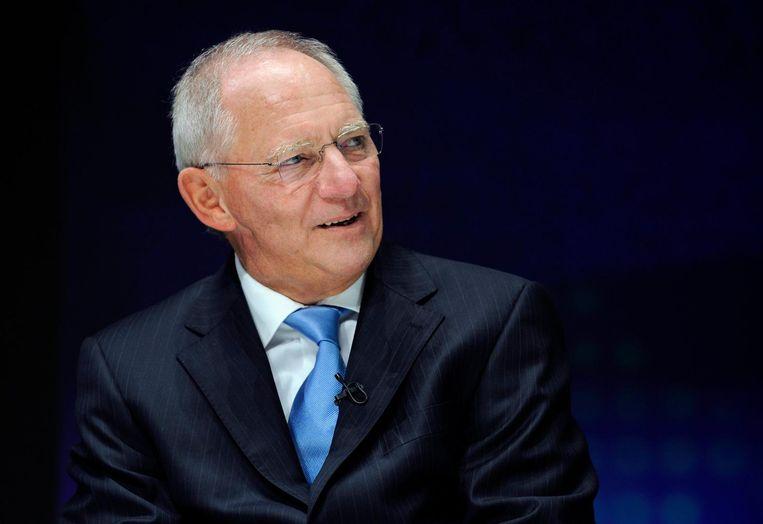 Wolfgang Schäuble, Duitse oud-minister van Financiën. Beeld epa