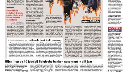 Bijna 1 op de 10 jobs bij Belgische banken geschrapt in vijf jaar