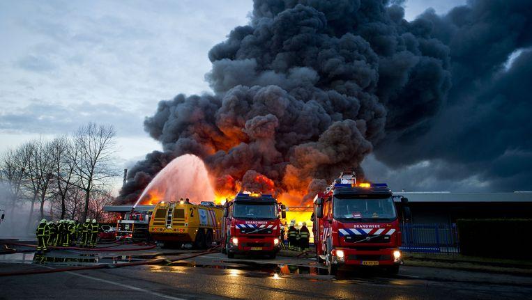 Archieffoto van de brand bij Chemie-Pack in Moerdijk Beeld anp