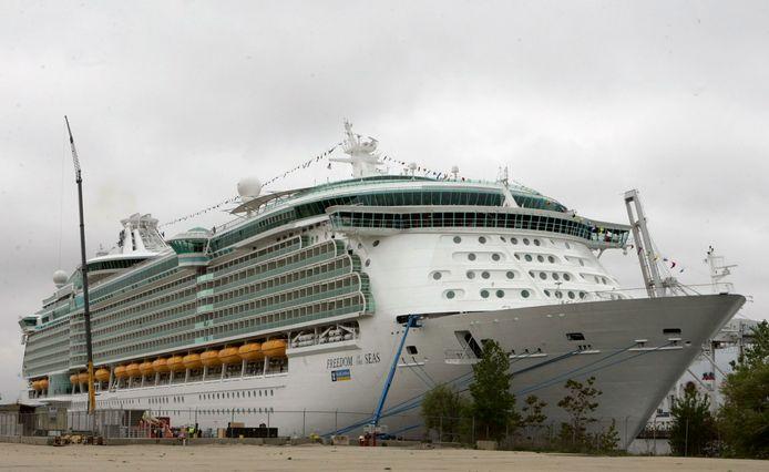 Cruiseschip Freedom of the Seas van rederij Royal Caribbean waar de kleine Chloe vanaf viel.