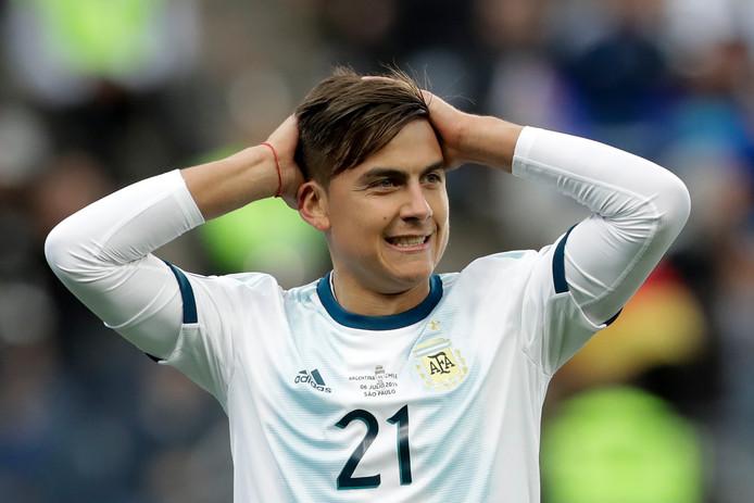 Dybala met Argentinië op de Copa America.