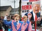 President Trump en Max Verstappen geliefd in optocht