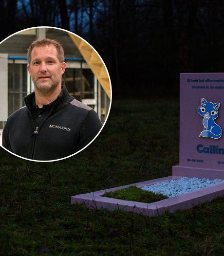 Guus maakt lichtgevend grafmonument naar idee van vader die kind verloor: 'Verhaal ging door merg en been'