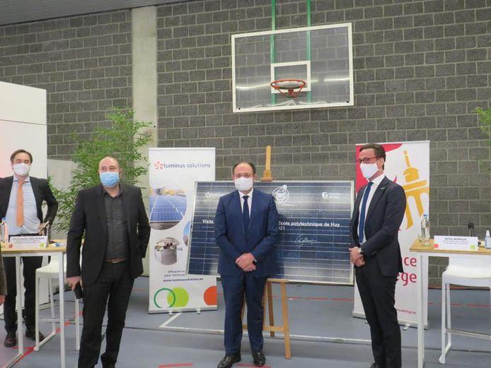 Willy Borsus et Christophe Collignon en visite à Huy.