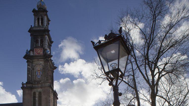 Westerkerk met de Westertoren aan de Prinsengracht. Beeld Floris Lok