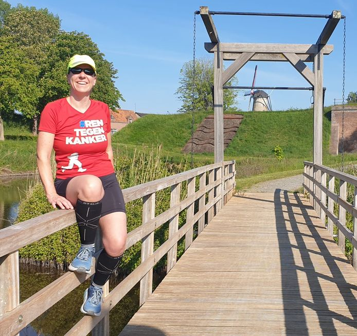 Lisette Cauwels van hardloopgroep The Belfort Bastards uit Sluis nam het initiatief voor een virtueel hardloopevenement.
