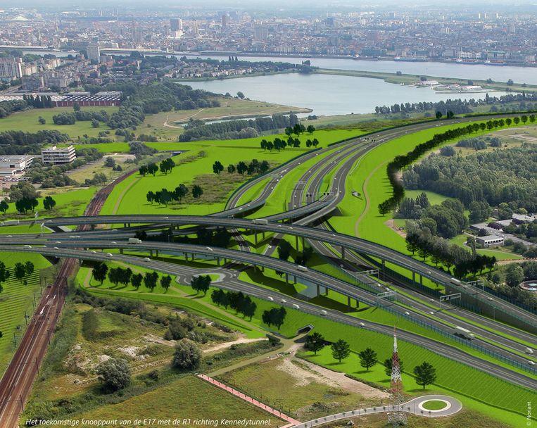 Door de bouwaanvraag af te keuren voor de aanpassing van lokale wegen komt het hele Oosterweelproject op de helling te staan.
