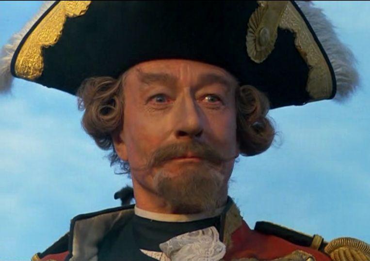 John Neville als Baron Munchausen Beeld Columbia