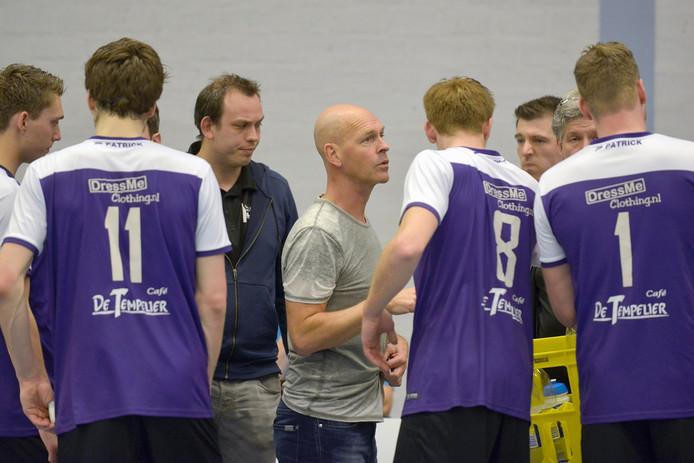 Stephan Haukes (m) maakte het seizoen af als coach van Vocasa. Archieffoto Flip Franssen