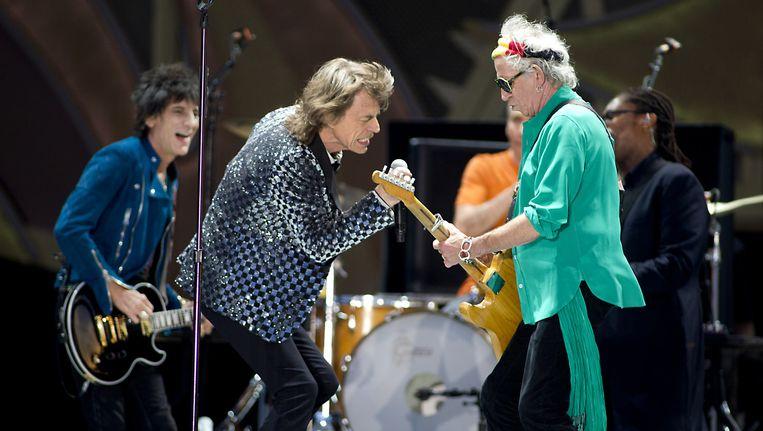 De Engelse rockband The Rolling Stones met Mick Jagger, Keith Richards, Ron Wood en Charlie Watts tijdens de 45e editie van Pinkpop. Beeld anp