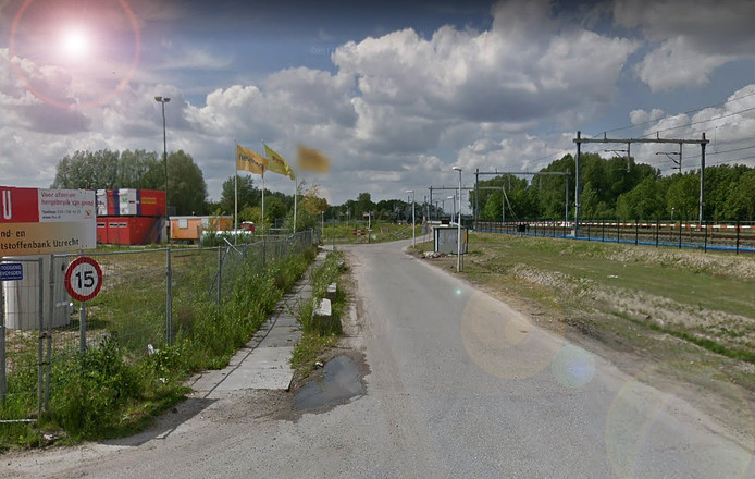 De kruising van het Maarschalkerweerdpad en Tussen de Rails: de locatie van het nieuwe station Koningsweg.