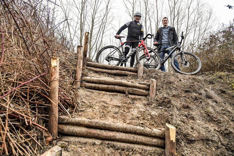 Het nieuwe parcours is ook voorzien van trappen.
