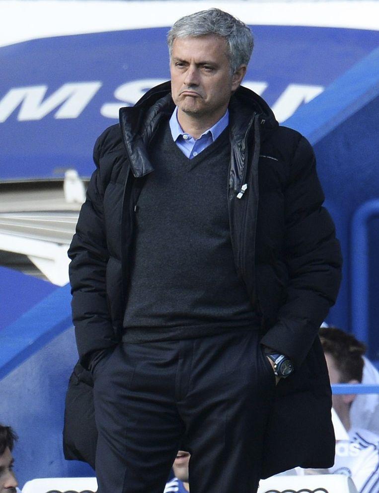 José Mourinho tijdens het duel tegen Sunderland Beeld reuters