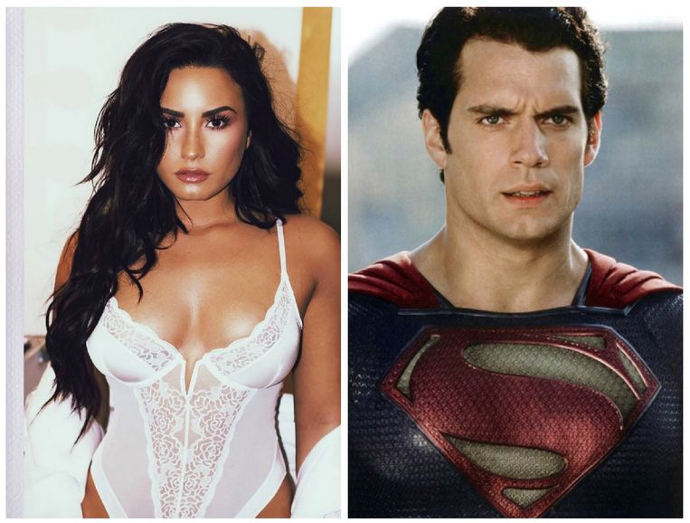 Demi Lovato en Henry Cavell