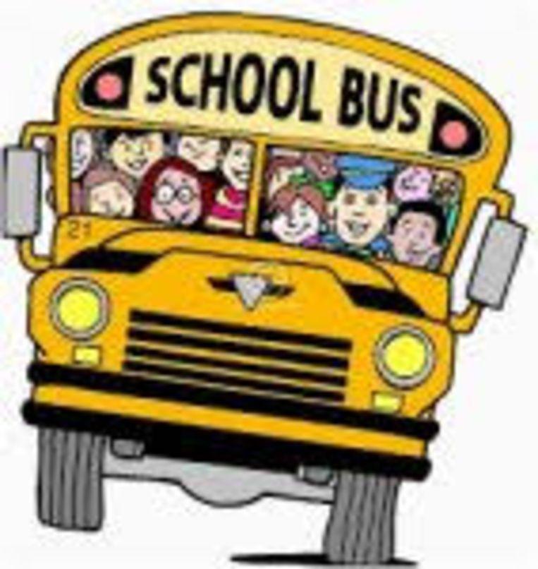 De schoolbus.