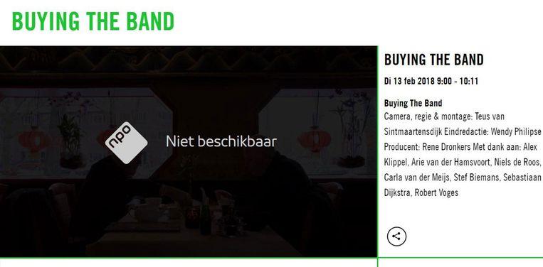 De documentaire is niet meer beschikbaar op NPO. Beeld Screenshot NPO
