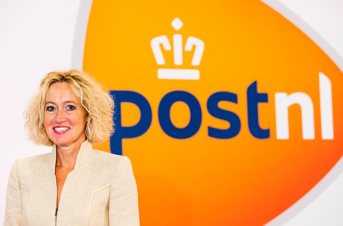 Herna Verhagen, CEO van PostNL voorafgaand aan de presentatie van de halfjaarcijfers.