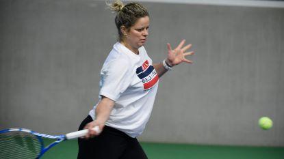 Fred Hemmes is de nieuwe coach van Kim Clijsters, bekijk hier beelden van haar eerste open training