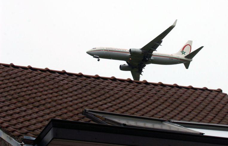 Overlast in Neerijse, deelgemeente van Huldenberg, van de vliegtuigen van Zaventem