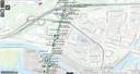 De kaarten met onderzoekslocaties nabij de Merwedebrug en het knooppunt Gorinchem. Niet eens alle onderzoeken staan er al op.