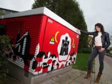 Graffiti spuiten als taakstraf in Doesburg: 'Trots op resultaat'