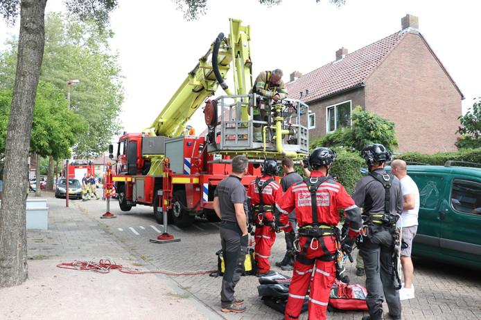 De brandweer ter plaatse in Nieuwegein.