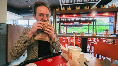 Meteen druk in Burger King