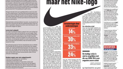 Geen V-beweging, maar het Nike-logo