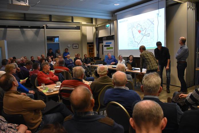 Er was veel belangstelling voor de plannen van het gebiedje De Driesprong tijdens de vergadering van de dorpsraad in Eerde maandagavond.