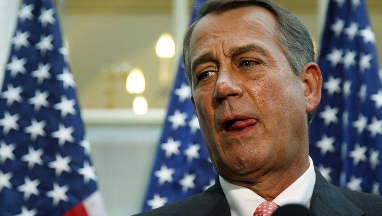 i de Republikeinse voorzitter van het Huis van Afgevaardigden John Boehner Beeld reuters