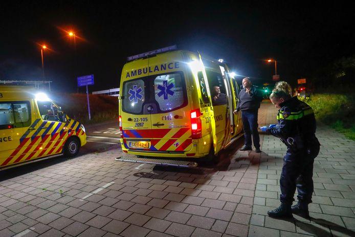 René Mulder redde twee personen uit een brandende auto.