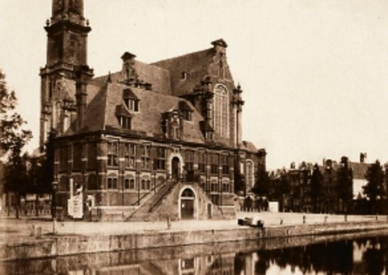 1857: Westerhal met op de voorgrond de Keizersgracht. (FOTO B.B. TURNER) Beeld